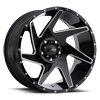 206 Vortex Gloss Black with Milling and Clear Coat - 20x10