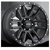 107 Xtreme Satin Black with Satin Black X-Lok Lip
