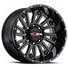810 Sentry Gloss Black with Milling and Clear Coat - 20x12